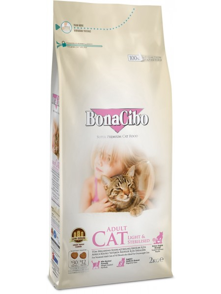 BonaCibo Adult Cat Light & Sterilised
