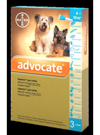 Bayer Advocate для собак весом от 4 до 10 кг