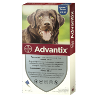 Bayer Advantix для собак весом от 25 до 40 кг