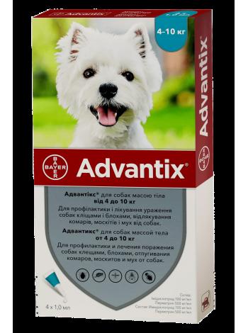 Bayer Advantix для собак весом от 4 до 10 кг